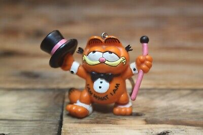 Vintage Garfield Figure Keyring I Am What I Am Bully West Germany 1981 • 10£
