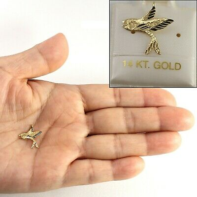 14k Yellow Gold Flying Fish Charm TPJ • 30.95$
