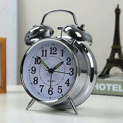 NEW Retro Loud Double Bell Mechanical Key Wound Alarm Clock UK • 10.09£