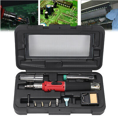 £14.99 • Buy Soldering Iron Kit Professional Gas Butane Auto Ignition Torch With Plastic Case
