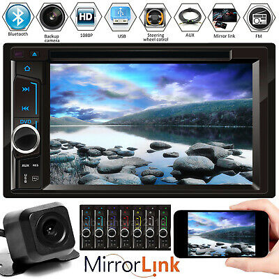 $134.20 • Buy HD 2 Din In-dash Car Mirror For GPS Navigation Bluetooth Stereo MP3 Player Radio