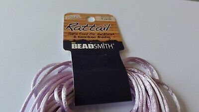 Beadsmith Rattail Satin Cord - 2mm X 6 Yards - Lavender  • 2.25£
