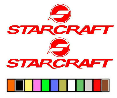 $12.50 • Buy Starcraft Boat Stickers Decals Fishing Skiing**any Size Or Color Available**
