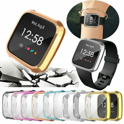 $ CDN4.91 • Buy Slim Full Screen Protector Protect Frame Case Cover For Fitbit Versa Lite Watch