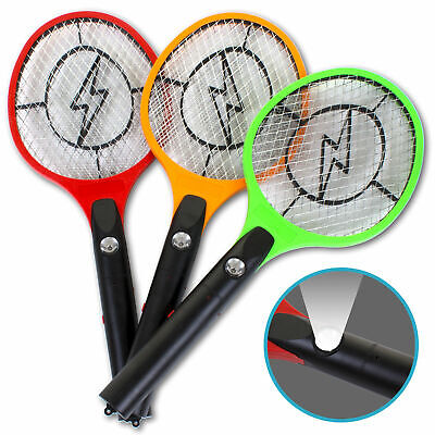 Electrical Mosquito Bat Fly Swatter Insect Killer Electric Zapper Tennis Racket • 7.99£