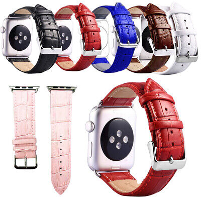 $ CDN11.82 • Buy Replacement Leather Watch Bands Wristbands For Apple IWatch Series 3/2/1 38/42