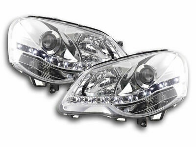 AU497.86 • Buy Vw Polo 9n3 2005-2009 Model Projector Drl Day Running Headlights Headlamps