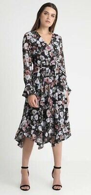 AU65 • Buy BNWT Forever New Black Floral Dress Size 8