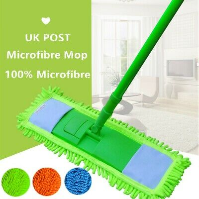 Extendable Telescopic Microfibre Mop Cleaning Duster Cleaner Floor Wet Dry Wipes • 6.99£