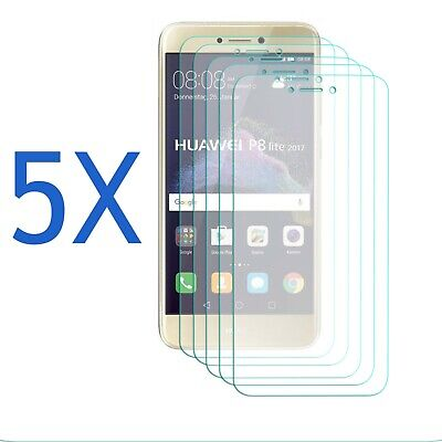 5 Pack - Screen Protector For Huawei P8 Lite 2017 - Clear Film Guard Ultra Thin • 3.95£