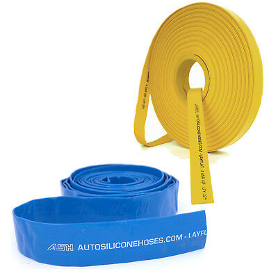 Blue Yellow Layflat Pipes - PVC Water Hose Discharge Pump Lay Flat Irrigation • 11.25£