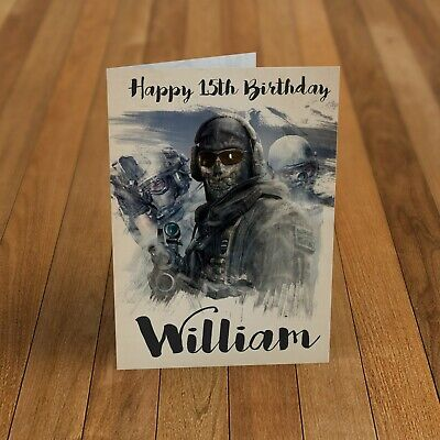 £2.85 • Buy Call Of Duty Personalised Birthday Card For Dad Grandson Kids Boys Brother Male