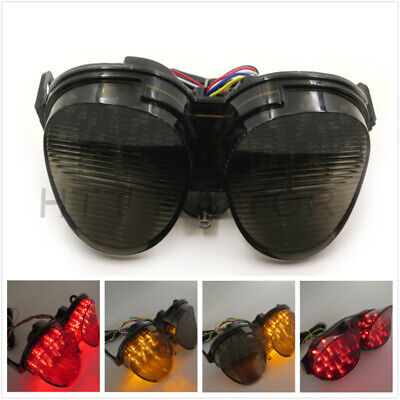 $31.64 • Buy Smoke Integrated LED Tail Light Signals For Yamaha YZF R6 2001 2002 Sportbike