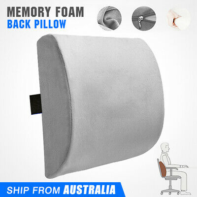 AU19.59 • Buy Memory Foam Lumbar Back Pillow Support Back Cushion Home Office Car Seat Chair