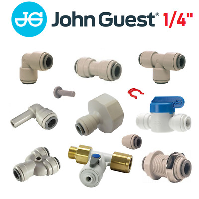 John Guest 1/4  Water Filter Fittings, Ro Unit, Reverse Osmosis, Pipe, Tube • 2.99£