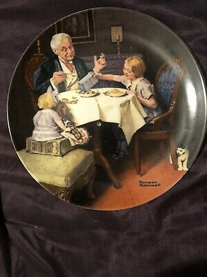 "$ CDN11.48 • Buy Knowles  Collector Plates Norman Rockwell ""The Gourmet"""