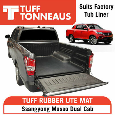 AU129.60 • Buy  Rubber Ute Tuff Mat For Ssangyong Musso Dual Cab- With Factory Liner Only.2018+