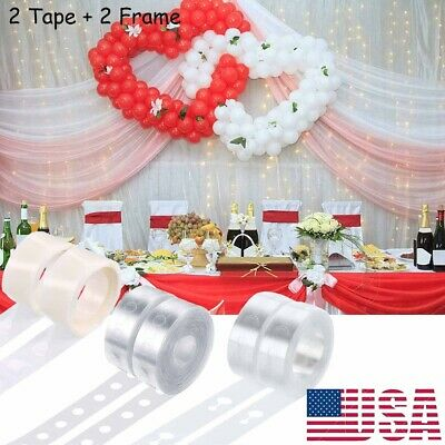 $6.75 • Buy Balloon Arch Frame Kit Column Base Tape Wedding Birthday Party Decorating Strip