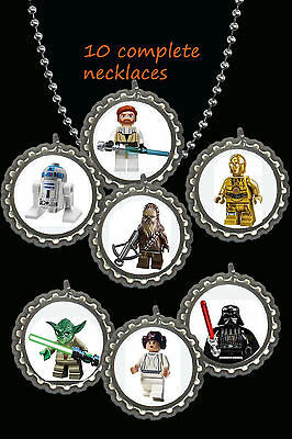 $9.49 • Buy Star Wars Lego Party Favors Ball Chain Lot Of 10 Necklaces Necklace