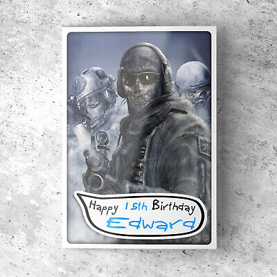 £2.85 • Buy CALL OF DUTY Personalised Birthday Card For Boys Dad Father Son Grandson Uncle