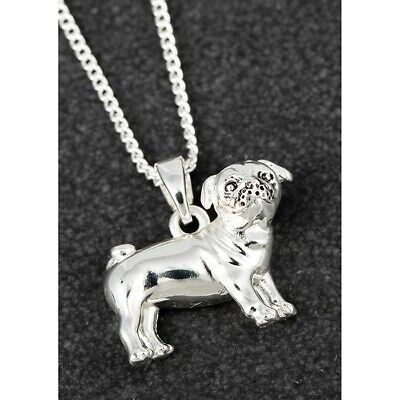 £12.99 • Buy Equilibrium Silver Plated Pug Dog Furry Companions Necklace 299353
