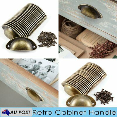 AU15.99 • Buy 24 Pcs Cupboard Door Cabinet Cup Drawer Furniture Antique Pull Shell Handle