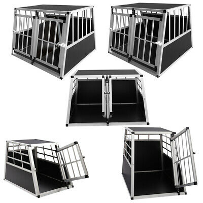 View Details Large Small Metal Dog Pet Puppy Cage Kennel Fit Car Boot Trapezoid Carrier Box • 55.95£