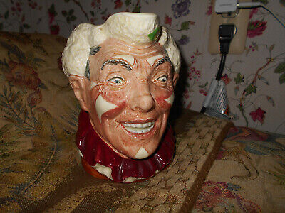 Royal Doulton The Clown Character Toby Jug D6322 With White Hair~Harry Fenton~ • 532.85£