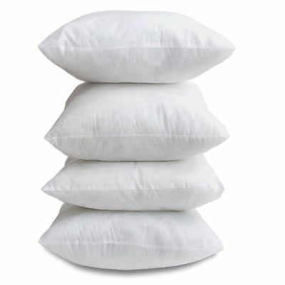 £7.99 • Buy 17  X 17  Inch Cushion Scatter Inner Pads OVER FILLED Pack Of 4 Non Allergenic
