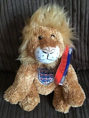 """£9.99 • Buy FA England Football Lion Soft Plush Toy Mascot 8"""" Badge Tag Official"""