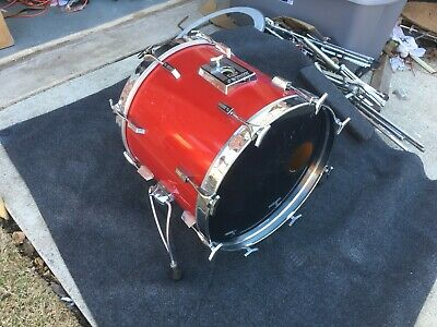 $669 • Buy Vintage Sonor Phonic  20  Bass Drum- Candy Red Finish