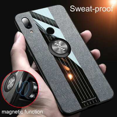 $1.47 • Buy For Xiaomi Redmi Note 8 7 Pro Magnetic Ring Metal Holder Hard Cover Fabric Case
