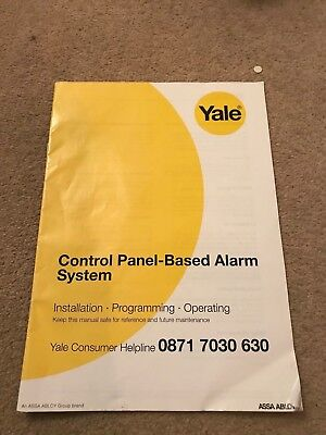 Yale Control Panel-Based Alarm System Installation- Programming Operating Manual • 10£