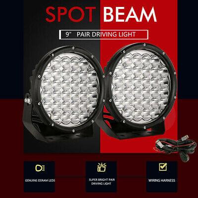 AU109.96 • Buy Pair 9 Inch OSRAM SPOT LED Driving Lights 4x4 Round Spotlight Fog Headlight Work