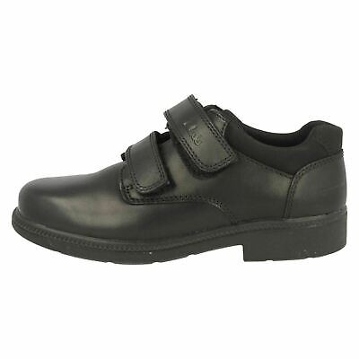New Clarks Smart School  DEATON  Black Leather Shoes. Childs UK 7 Fit G EU 24 G. • 12.95£
