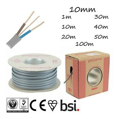 10mm Twin And Earth Cable T&E Grey Electric Shower Circuits  Oven Circuits • 4.99£