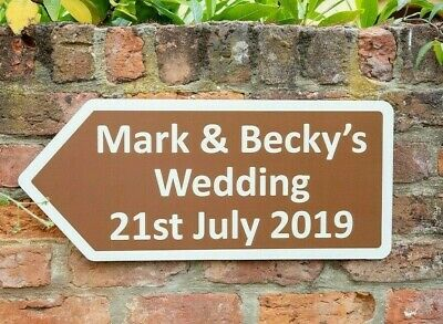 £14.49 • Buy PERSONALISED Wedding / Party / Event Direction Sign Road Sign 300x694mm