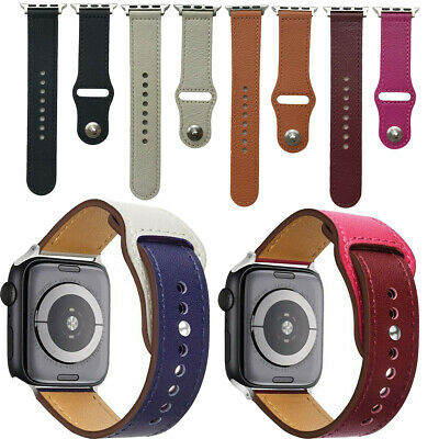 $ CDN14.28 • Buy Leather Band For Apple Watch Series 1 2 3 4 Replacement Strap No Buckle Design