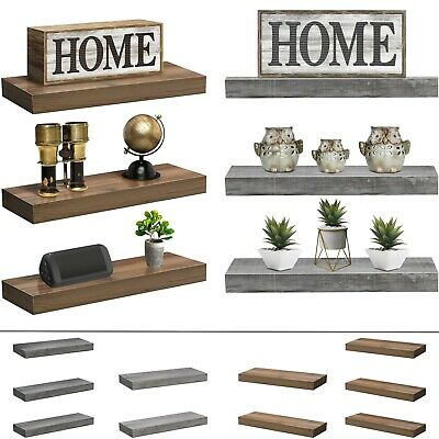 $34.95 • Buy Sorbus Floating Shelves, Farmhouse Hanging Wall Shelf Décor - 16 Inches - 3 Pack