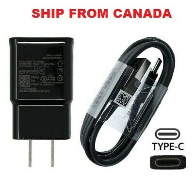 $ CDN19.99 • Buy Samsung Fast Wall Charger Adapter Ep-ta20jbe + Type C USB Data Cable Ep-dg950cbe