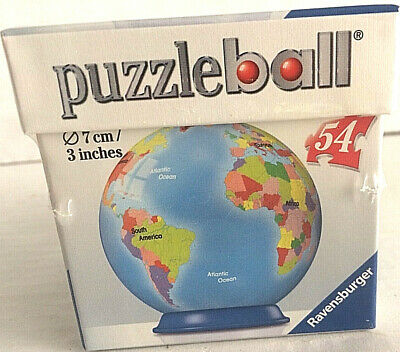 $6 • Buy Ravensburger Puzzle Ball Globe New Sealed 7cm / 3 Inches