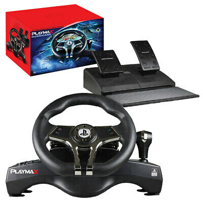 AU187.95 • Buy PLAYMAX Hurricane Steering Wheel For PS4 & PS3 NEW