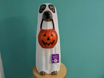 $69.99 • Buy Halloween Spooky Puppy Dog As Ghost Blow Mold LED Changing Colors 24 Inch