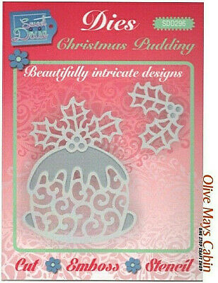 £5.45 • Buy Christmas Pudding Die Set Sweet Dixie SDD296  ::  Xmas Pudding Cake Holly