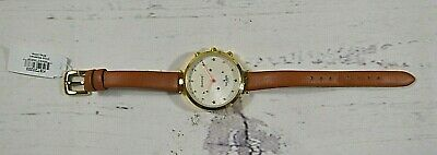 $ CDN86.12 • Buy Nib Kate Spade Gold Lined Hooray Stat Tan Leather Strapped Womens Watch