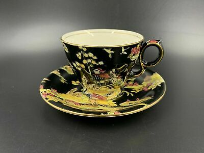 $ CDN59 • Buy Royal Winton Grimwades Pekin Black Tea Cup Saucer Set England