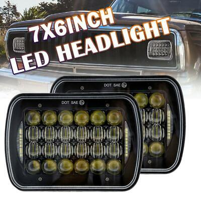 AU82.59 • Buy 2Pcs LED Upgrade Head Light 5X7  Headlight Replacement Hi/Lo H4 For Toyota Hilux