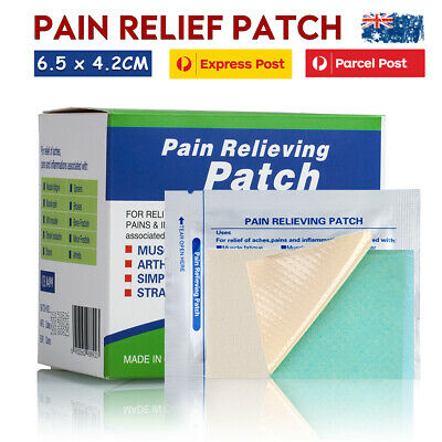AU6.95 • Buy Pain Relief Patches Menthol Cool Arthritis Muscle Aches Relieving Patchs 6.5x4cm