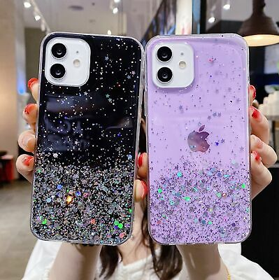 Bling Glitter Case For IPhone 7 Plus 8 XR XS MAX Clear Gel Soft Phone Case Cover • 3.75£