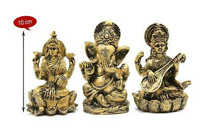 Laxmi Ganesha Saraswati Statues Hindu God Pooja Weath Knowledge • 9£